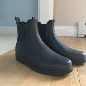 J. Crew Factory Chelsea Style Black Rain Boots